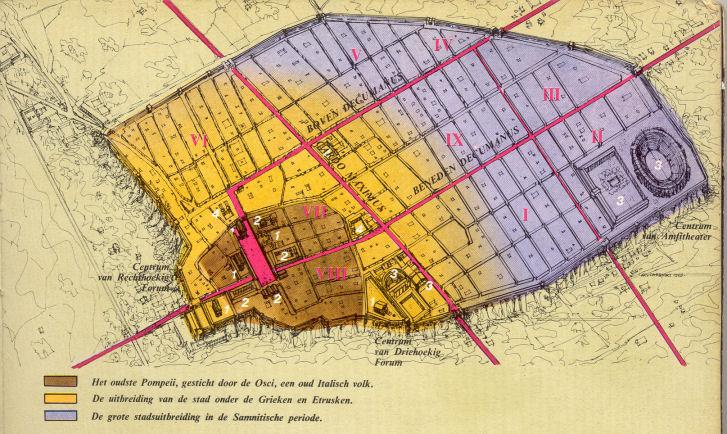 plattegrond pompeii