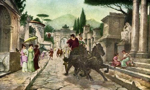 afbeelding romein achter paard